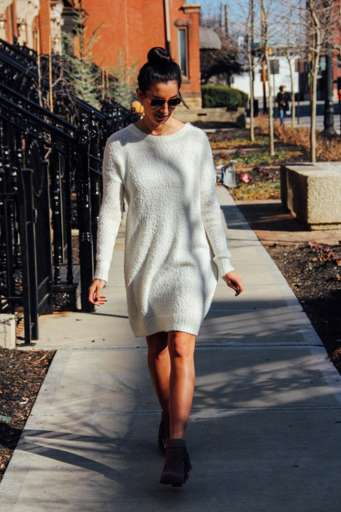 Fluffy Sweater Dress