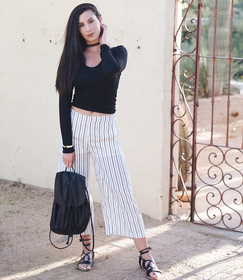 Wide-Leg Gaucho Pants